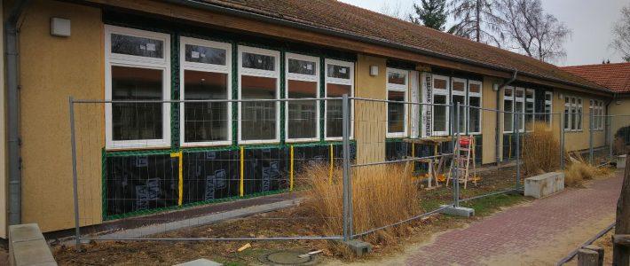 Bauarbeiten am Haus B sind sichtbar