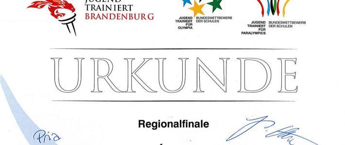 Schüler gewinnen den Pokal beim Wettbewerb Regionalfinale JTFO, WK 2-Mix-2020