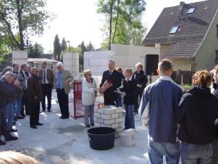 Neubau Haus D 2004/ 2005, Grundsteinlegung