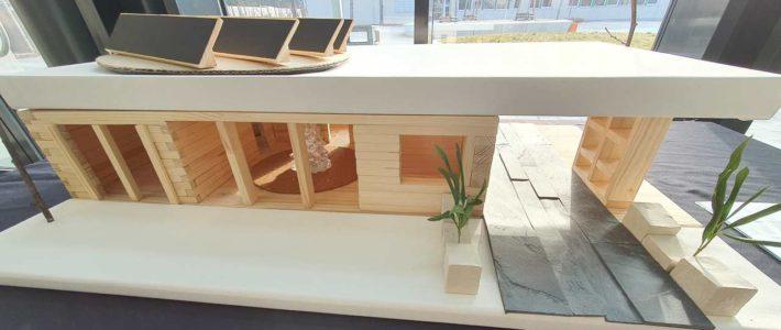 Niedrigenergiehaus – Unterrichtsprojekt Klasse 9 wird ausgestellt.